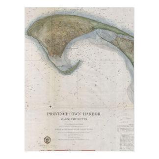 Mapa del vintage de Provincetown Postal