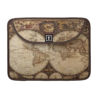 Mapa del vintage funda para MacBook