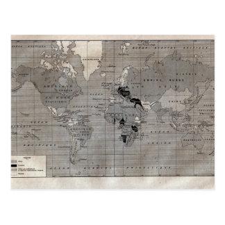 """Mapa del vintage, """"Primera Guerra Mundial"""" circa Postal"""