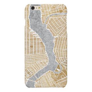 Mapa dorado de la ciudad de Nueva York