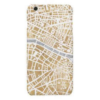 Mapa dorado de la ciudad de París