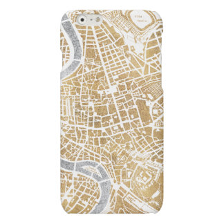 Mapa dorado de la ciudad de Roma