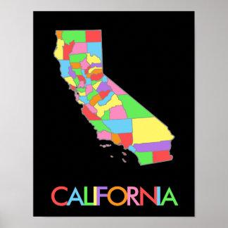 Mapa en colores pastel bonito del arco iris de impresiones