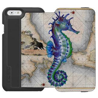 Mapa Gibraltar del Seahorse Funda Cartera Para iPhone 6 Watson