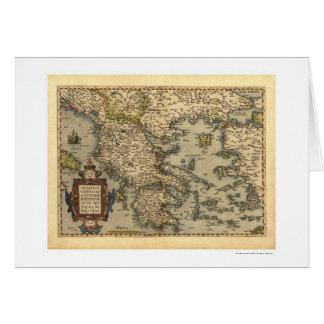 Mapa griego Ortelius 1570 de las islas Tarjeta De Felicitación