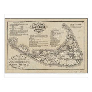 Mapa histórico de la postal de Nantucket