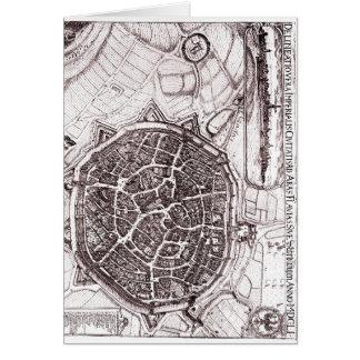 Mapa histórico de Nordlingen, Alemania en 1651 Tarjeta De Felicitación