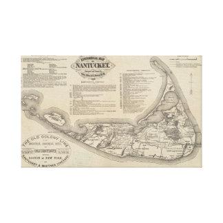 Mapa histórico del arte de la pared de Nantucket