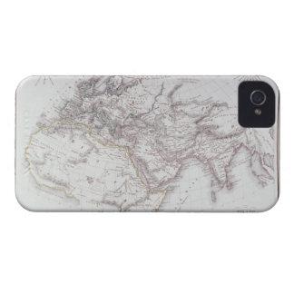 Mapa histórico del mundo sabido iPhone 4 Case-Mate protector