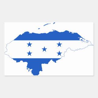 Mapa HN de la bandera de Honduras Rectangular Pegatinas