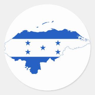 Mapa HN de la bandera de Honduras Pegatina Redonda