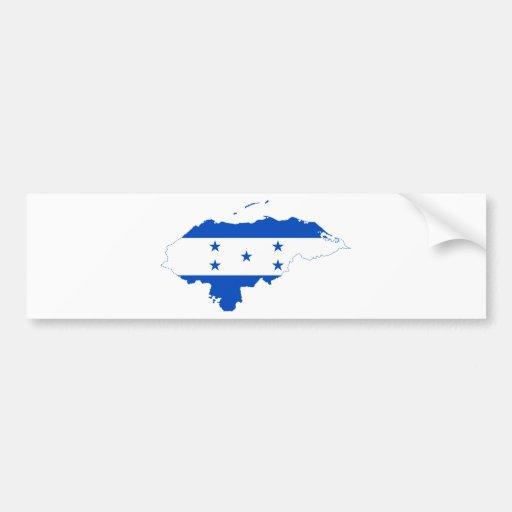 Mapa HN de la bandera de Honduras Pegatina De Parachoque