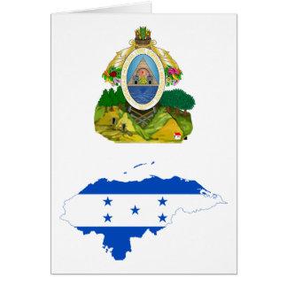Mapa HN de la bandera de Honduras Tarjeta