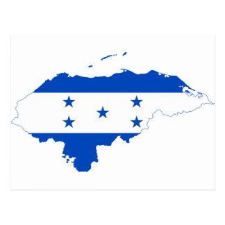 Mapa HN de la bandera de Honduras Postal
