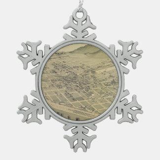 Mapa ilustrado del vintage de El Paso Tejas (1886) Adornos