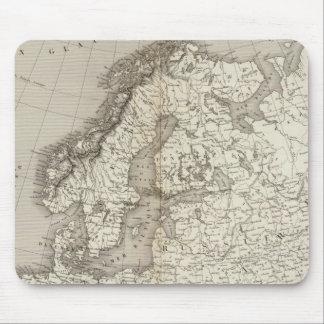 Mapa incoloro de Europa Alfombrilla De Ratón