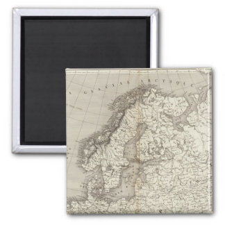 Mapa incoloro de Europa Imanes