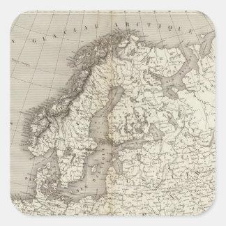 Mapa incoloro de Europa Pegatina Cuadrada