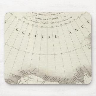 Mapa incoloro de Norteamérica Alfombrilla De Ratón