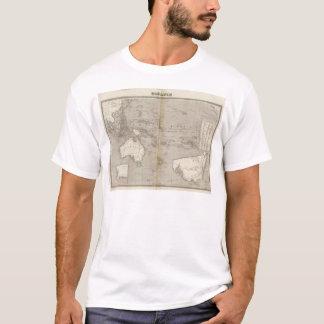 Mapa incoloro de Oceanía Camiseta