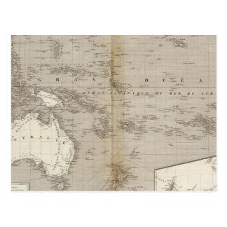 Mapa incoloro de Oceanía Postal