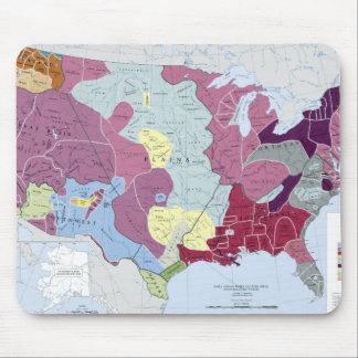 MAPA: INDIOS AMERICANOS ALFOMBRILLA DE RATÓN
