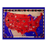 Mapa los Estados Unidos de América, los E.E.U.U. Postal