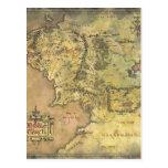 Mapa medio de la tierra #2 postales