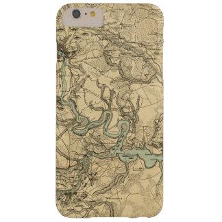 Mapa militar de Hughes de Richmond y de Funda Barely There iPhone 6 Plus