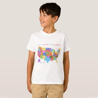 Mapa multicolor de los Estados Unidos Camiseta