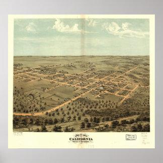 Mapa panorámico antiguo de California Missouri 186 Poster