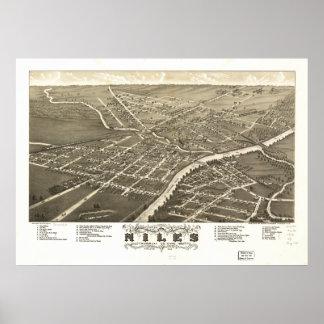 Mapa panorámico antiguo de Niles Ohio 1882 Impresiones