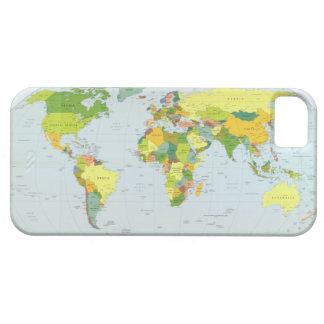 Mapa político 2007 de la tierra iPhone 5 Case-Mate fundas