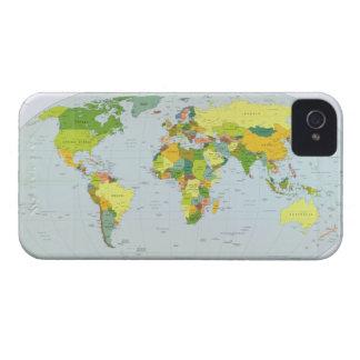 Mapa político 2007 de la tierra iPhone 4 Case-Mate funda