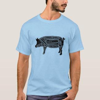 Mapa principal del cerdo camiseta