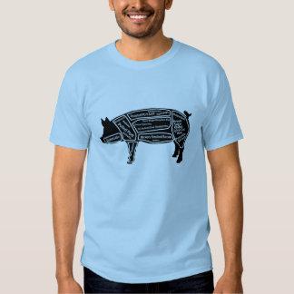 Mapa principal del cerdo camisetas