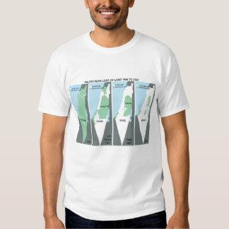 Mapa que encoge de Palestina Camiseta