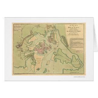 Mapa revolucionario 1776 de Boston Tarjetón