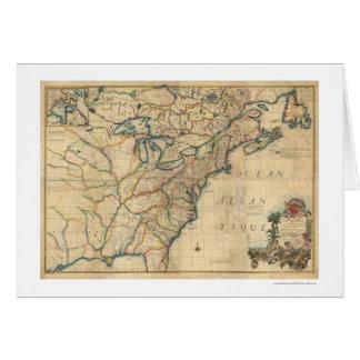Mapa revolucionario de América - 1777 Felicitaciones