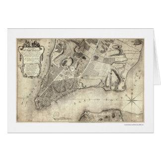 Mapa temprano 1776 de New York City Tarjeta De Felicitación