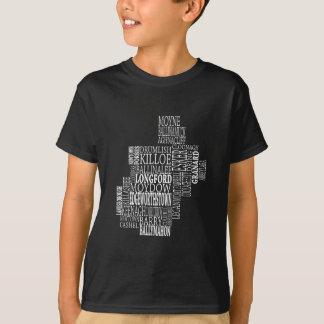 Mapa tipográfico de Co. Longford Camiseta