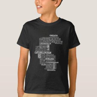 Mapa tipográfico de Co. Louth Camiseta