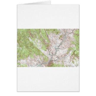 mapa topográfico de 1 x 2 grados tarjeta de felicitación