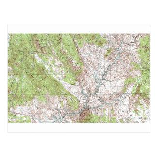 mapa topográfico de 1 x 2 grados tarjetas postales
