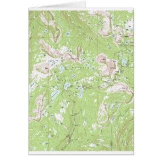 Mapa topográfico tarjeton