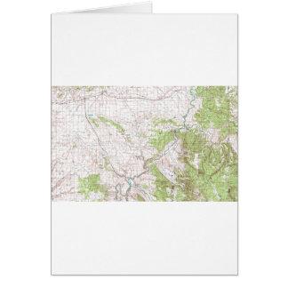 Mapa topográfico tarjeta de felicitación