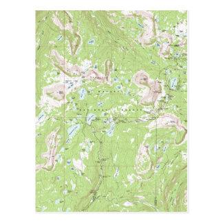Mapa topográfico tarjeta postal