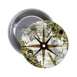Mapa viejo chapa redonda de 5 cm