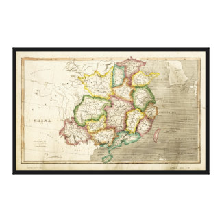 Mapa viejo de China (1830) Impresión En Lienzo