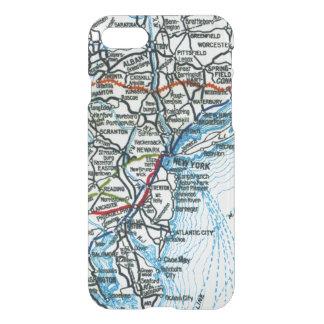 Mapa viejo New York City y Philadelphia de la Funda Para iPhone 7